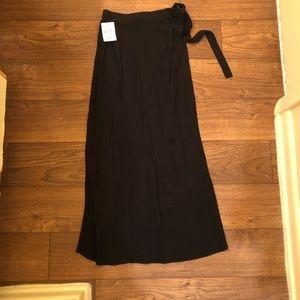 Forever 21 Black wrap midi skirt